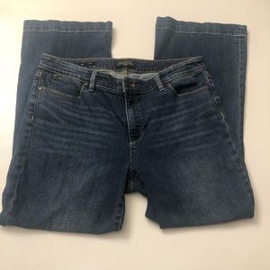 Talbots flawless five pocket jeans size 14P flare